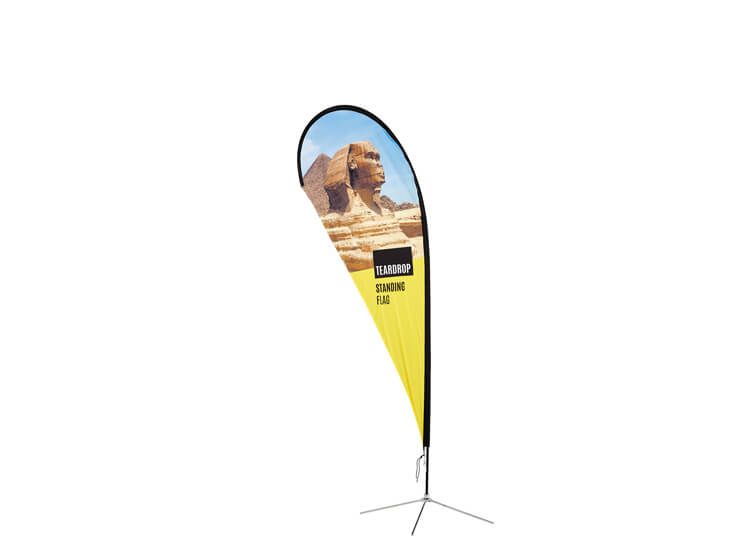 Fabric exhibition flag - Teardrop - 2.7m(h) 1.04m(w)