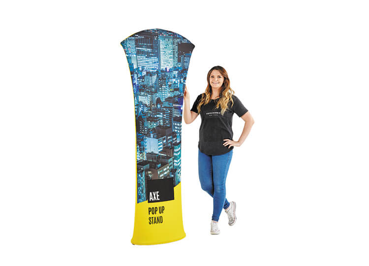 Fabric exhibition pop-up stands - Axe - 0.85m (w) x 2.0m (h)
