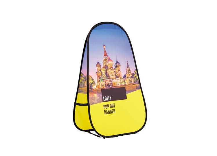 Fabric pop-out banners - Lolly - 1.7m(h) x 1.0m(w)
