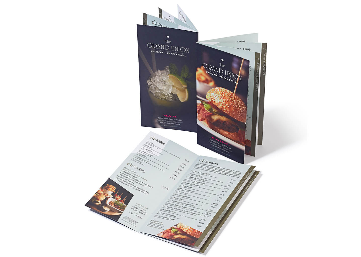 Grand Union Restaurant Menu Design by Proactive Marketing