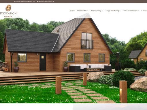 New holiday resort website designed for Staycation Lodges