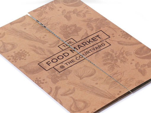 Innovative gatefold brochure and branding for new food venue