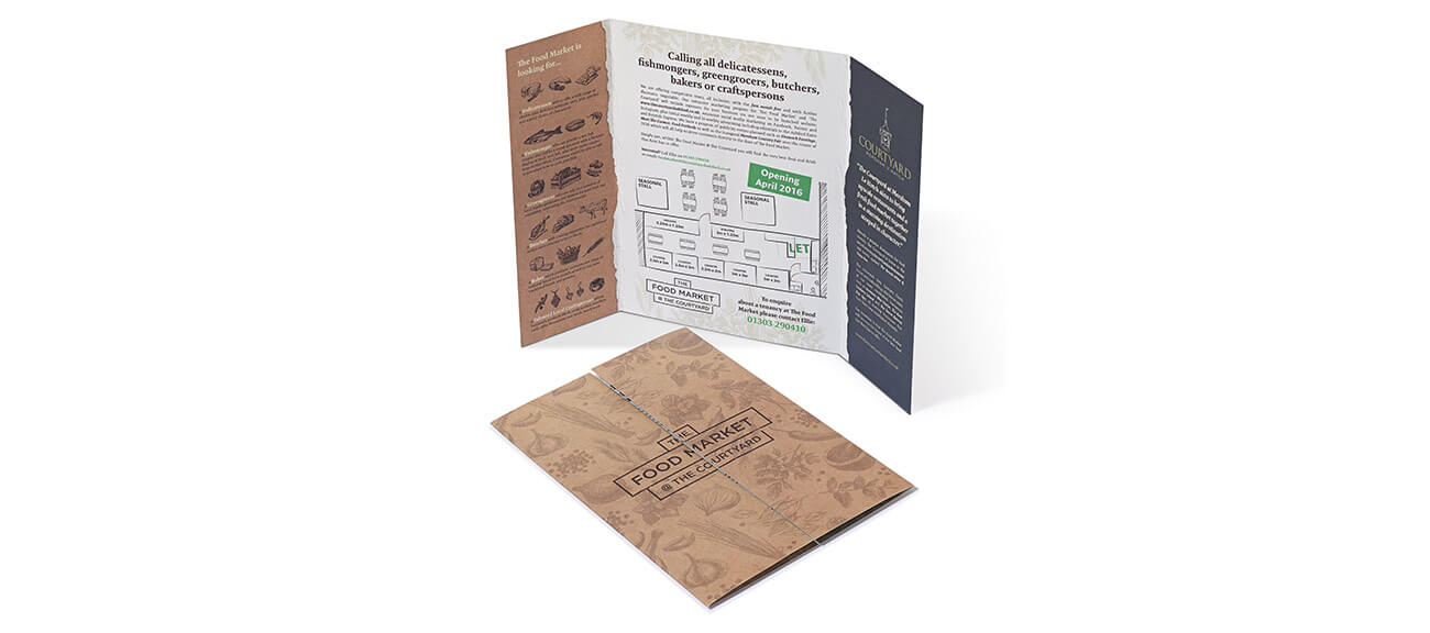 Artisan food company brochure