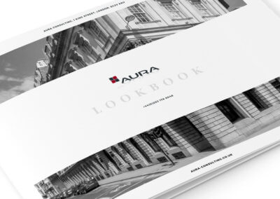 New digital lookbook design (digital brochure) for Aura Consulting