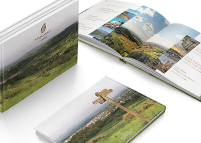 Case bound, hardback sales brochure for new client