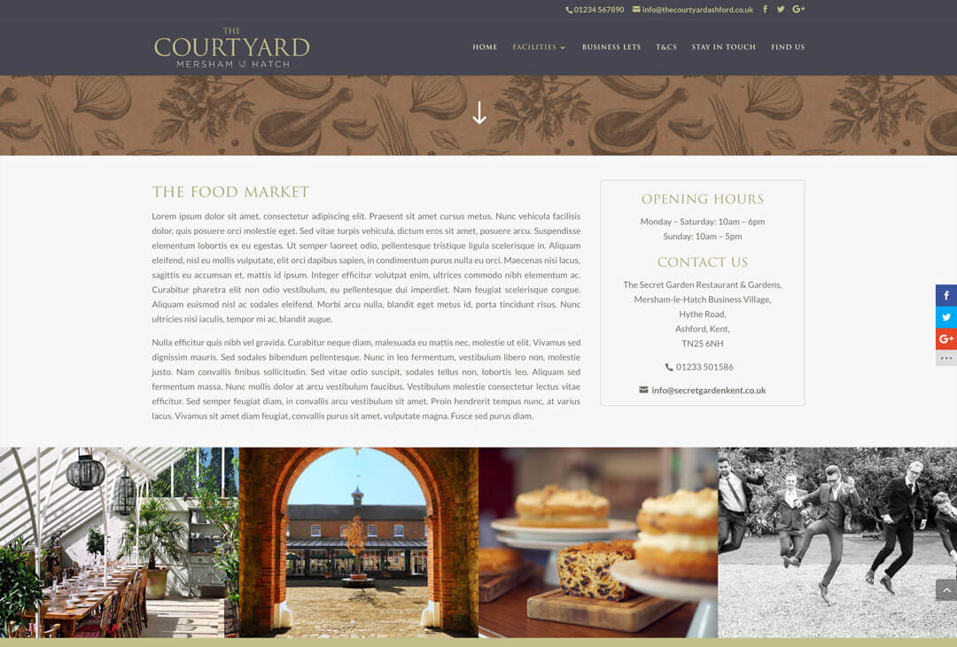 The Courtyard - Food Market detail page