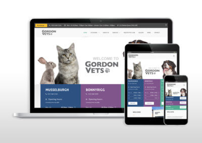 Complete revamp for Gordon Vets website design