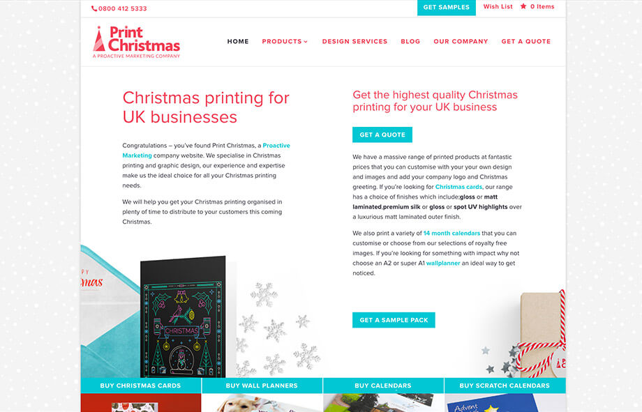 branded Christmas print for your business